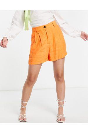 ASOS DESIGN Patterned shorts in peach-Orange