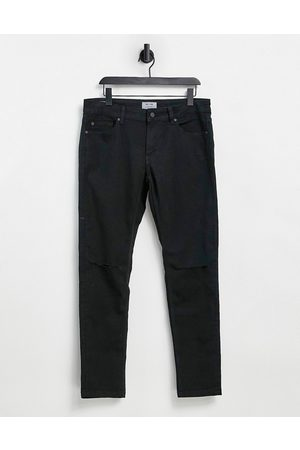 Only & Sons Skinny fit jeans with knee rips in black