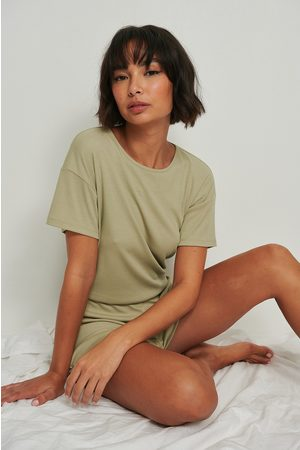 NA-KD Lingerie Dame Pyjamaser - Resirkulert Playsuit Pyjamas Med Myke Ribber