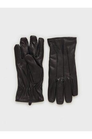 jack & jones Herre Hansker - Jacmontana Leather Gloves Hansker og votter Svart