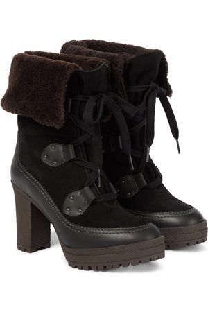 Chloé Verena shearling-lined ankle boots