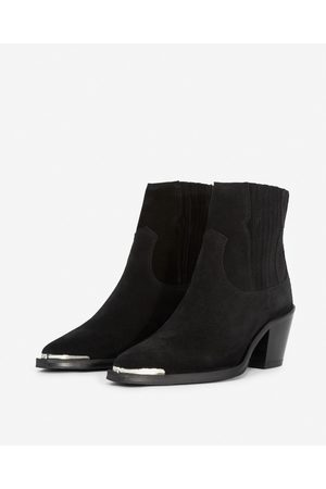 THE KOOPLES Western-style black suede ankle boots