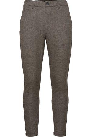 Gabba Pisa Class Check Pant Dressbukser Formelle Bukser Grå