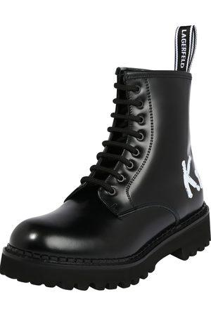 Karl Lagerfeld Dame Skoletter - Ankelstøvlett med snøring 'Troupe