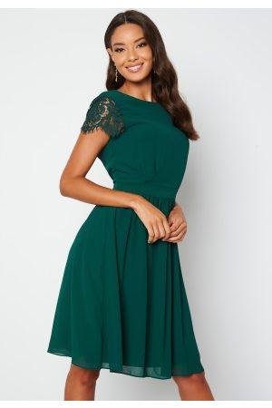 Moments New York Camellia Lace Dress Dark green 34