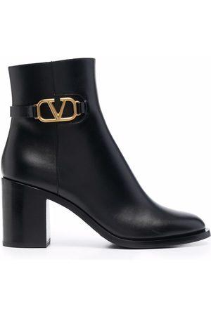 VALENTINO GARAVANI Vlogo plaque ankle boots