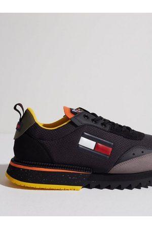 Tommy Hilfiger Herre Sneakers - Cleated Tjm Runner Mix Sneakers Black