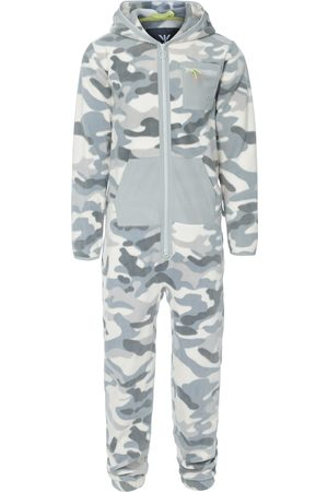 Onepiece Onesies - The New Camo Fleece Jumpsuit White