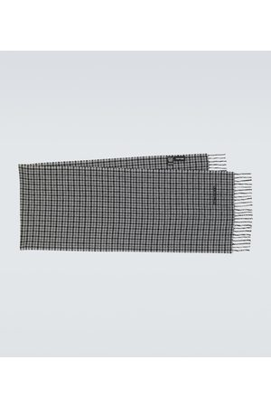 Tom Ford Houndstooth wool and cashmere scarf