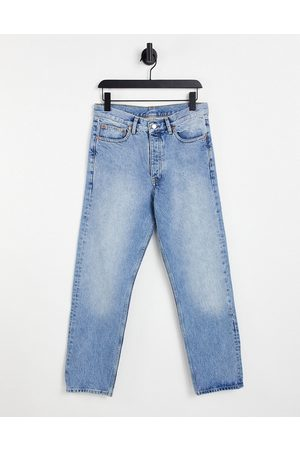 Dr Denim Dash straight jeans in light wash-Blue