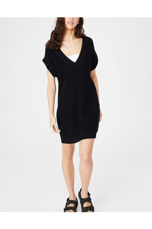 Cotton:On Sleeveless knitted dress in black