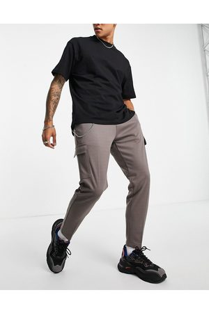 Mauvais Herre Joggebukser - Smart cargo joggers in taupe-Grey