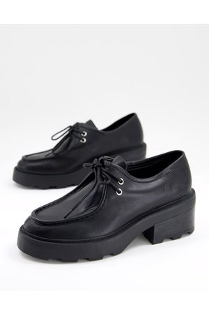 ASOS Dame Loafers - Minny chunky lace up flat shoes in black