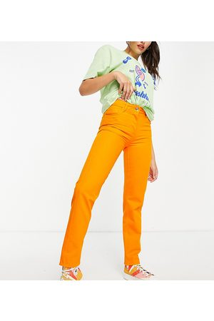 Collusion Dame Skinny - New mid rise fit slim jeans in orange