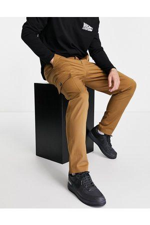 SELECTED Herre Cargobukser - Slim tapered cargo trousers in tan-Brown