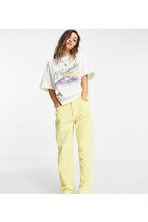 Reclaimed Vintage Dame Mom - Inspired 91' mom jean in yellow cord