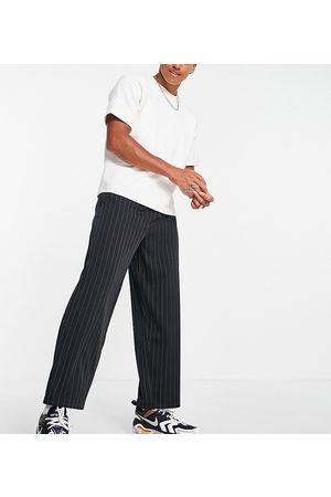 Collusion Tapered trousers in pinstripe-Navy