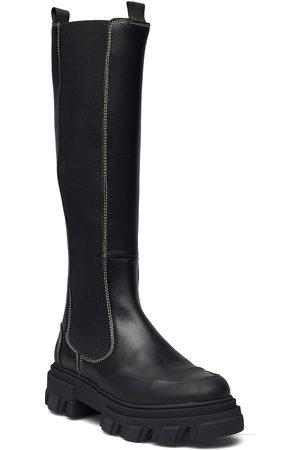 Ganni Dame Støvletter - Calf Leather Høye Støvletter