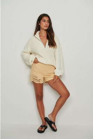NA-KD Trend Dame Shorts - Denimshorts med hull