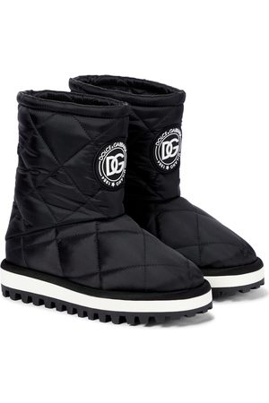 Dolce & Gabbana City quilted nylon ankle boots