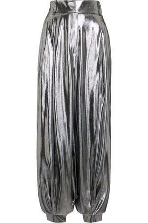 ALEXANDRE VAUTHIER Wide-leg silk-blend lamé pants