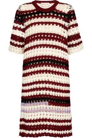 Marni Striped crochet dress
