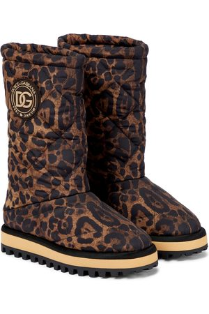 Dolce & Gabbana Quilted leopard-print boots