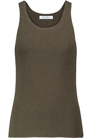 Max Mara Umano wool and cashmere tank top