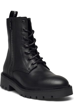 Calvin Klein Combat Mid Laceup Boot W Zip Shoes Boots Ankle Boots Ankle Boot - Flat