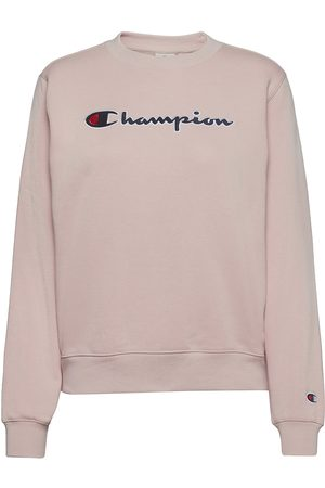 Champion Crewneck Sweatshirt Sweat-shirt Genser Rosa