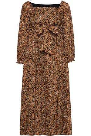 FAITHFULL THE BRAND Sobita Midi Dress Dresses Everyday Dresses Oransje