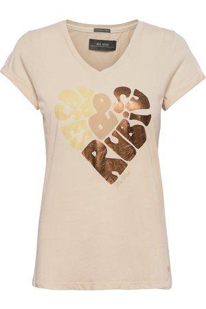 Mos Mosh Rubies V-Ss Foil Tee T-shirts & Tops Short-sleeved Rosa