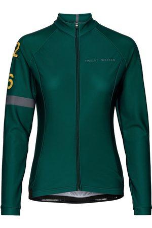 TWELVE SIXTEEN 0168 Jersey L/S Elite Andorra Green/Grey W T-shirts & Tops Long-sleeved