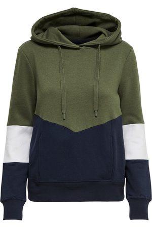 ONLY Sweatshirt 'ONLPEAR LS BLOCKING HOOD SWT