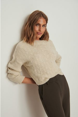 NA-KD Round Neck Cable Knitted Sweater