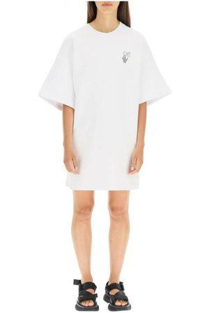 OFF-WHITE Logo-printed dress