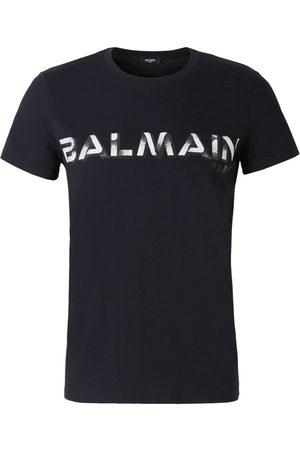Balmain Pixelated Logo T-Shirt