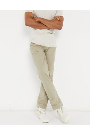 Selected Homme Herre Chinos - Straight fit chino with organic cotton in stone-Neutral