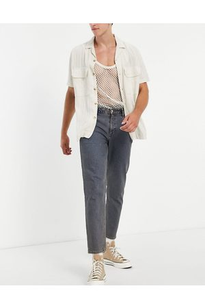ASOS Herre Straight - Classic rigid jeans in vintage dark tinted wash-Blue