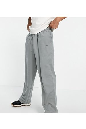 Collusion Wide leg joggers in charcoal-Grey