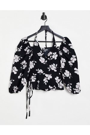 Fashion Union Dame Halterneck - Halter wrap blouse-Multi