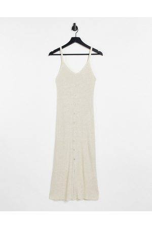 Object Lucilla sleeveless knitted dress in -Neutral
