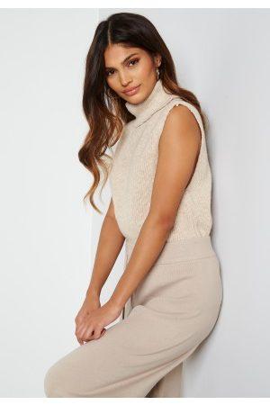 ONLY Dame Strikkegensere - Paris Life Roll Vest Pullover Knit Pumice Stone XS