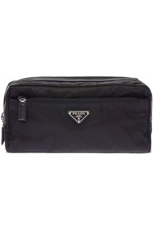 Prada Re-Nylon and leather travel pouch