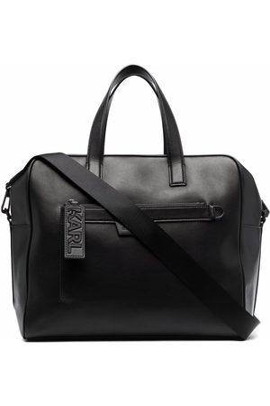 Karl Lagerfeld Herre Tote bags - Leather luggage bag