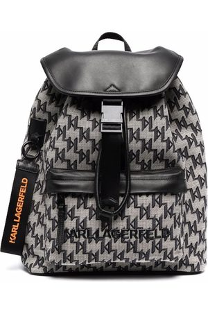Karl Lagerfeld Jacquard-monogram backpack