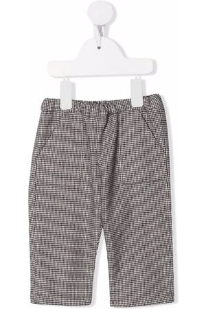 Bonpoint Chinos - Houndstooth-check straight leg trousers