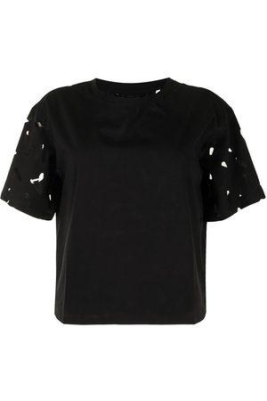 Armani Exchange Dame Kortermede - Cut-out logo cotton T-shirt