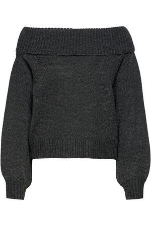 Soft Rebels Srlouisa Off-Shoulder Knit Strikket Genser Svart
