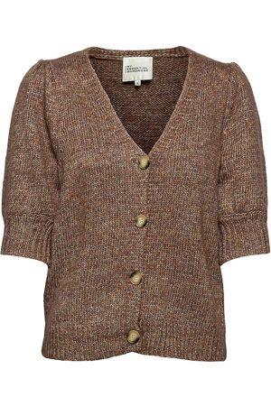 My Essential Wardrobe Mw Fay Knit Cardigan Strikkegenser Cardigan Brun